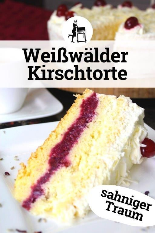 Photo of White forest cake: creamy dream in red and white