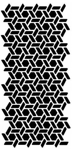 Honeycomb Wall STENCIL - Noelle Pattern - Allover, REUSABLE, DIY Walls