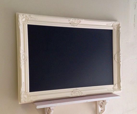 Ivory CHALKBOARD Large Blackboard Wedding Chalk by ShugabeeLane, $185.00