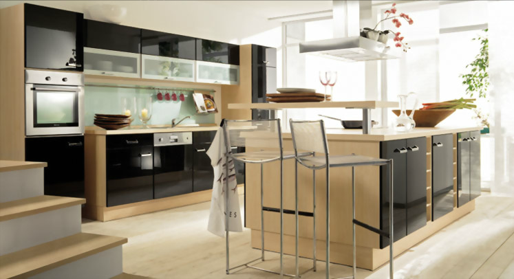 Fabrica de muebles de cocina con isla y desayunador | Kitchens ...