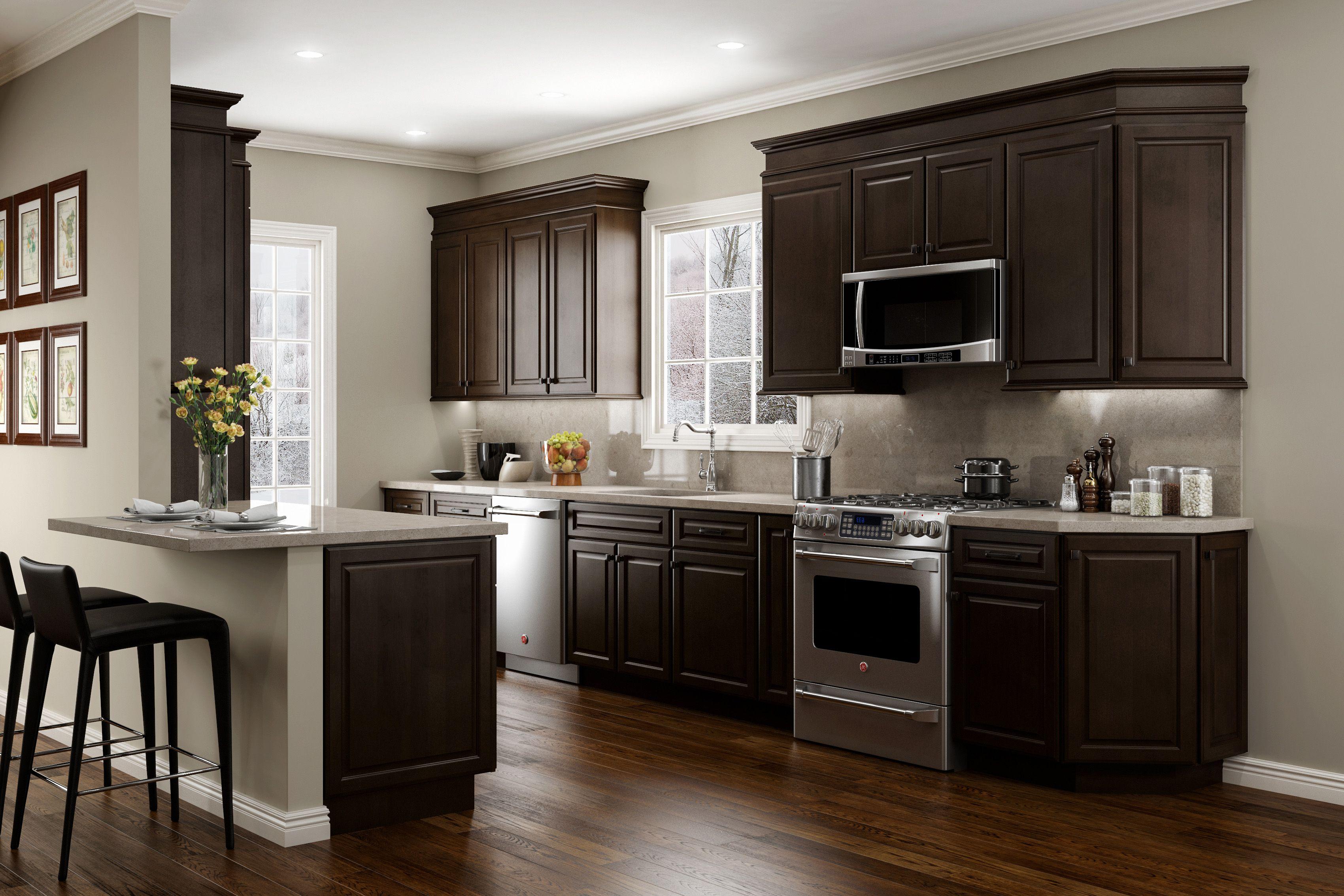 Jsi Cabinetry Quincy Espresso Kitchen Dark Kitchen Cabinets