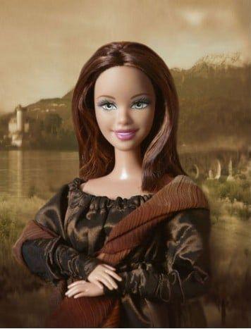 10 - A Mona Lisa já virou boneca Barbie