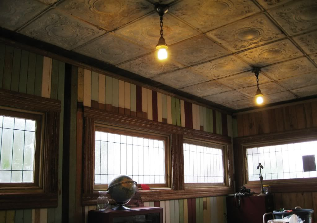 Attractive Ceiling Molding Ideas What Salvaged Pressedtin Ceiling Brass Light Fixtures  With Rustic Ceiling Ideas.