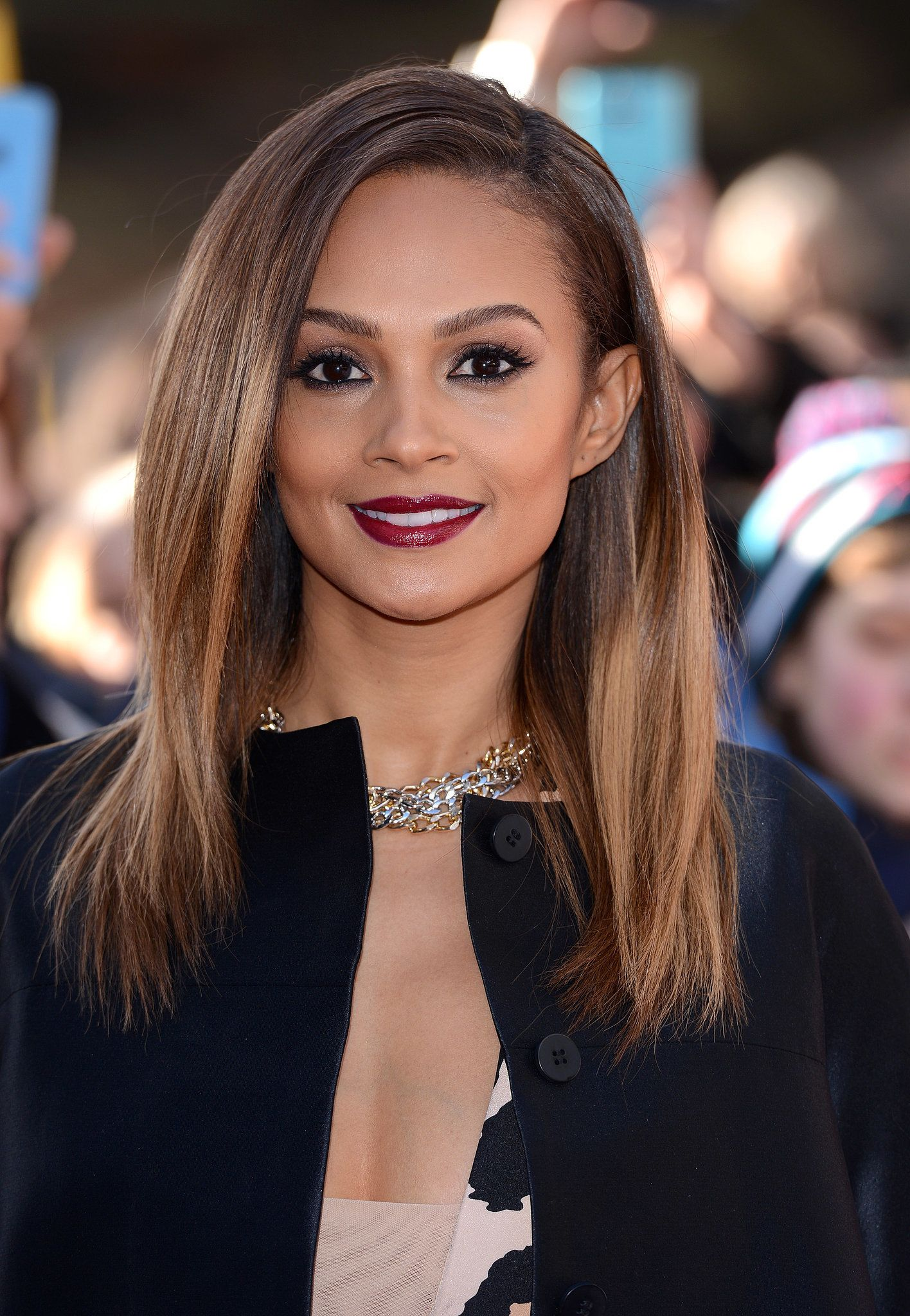 Alesha Dixon Long Curly Hairstyles 2013