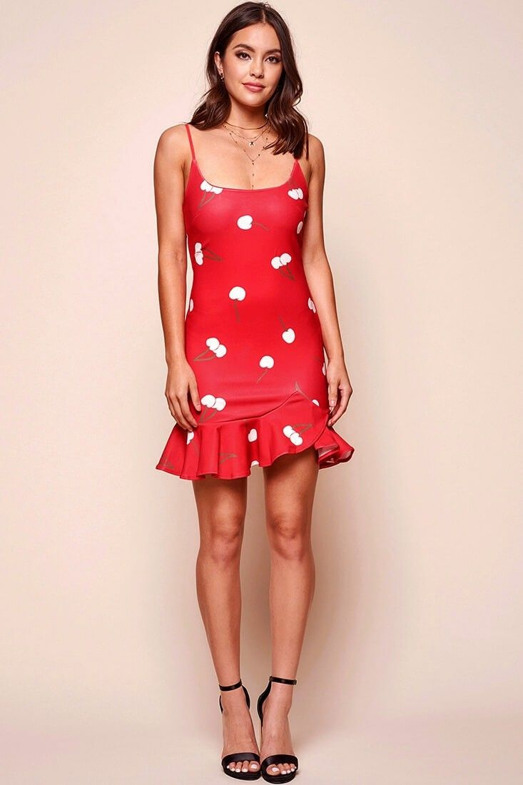 Emoji cherry on top bodycon mini dress red jumpsuits and cute
