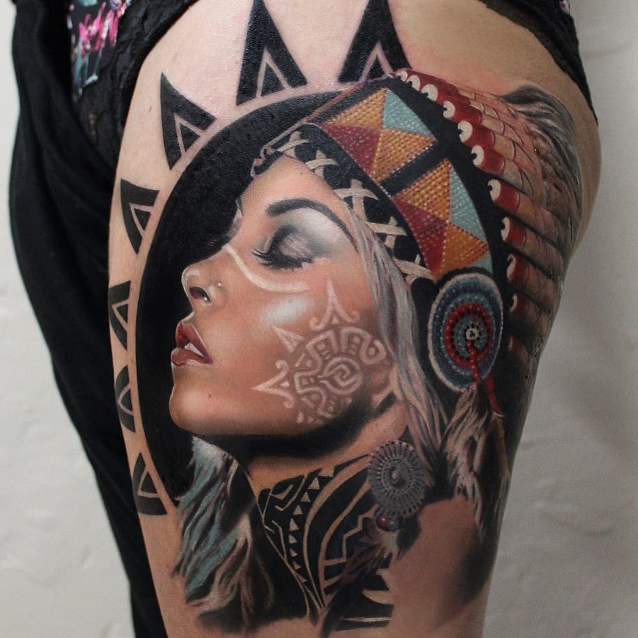 20 best images about neo-traditional portraits on ...  German Tattoos For Girls
