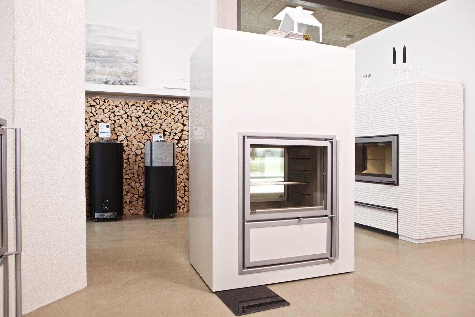 Tulikivi takka - fireplace Kalla Duo V5. Valkia Aalto