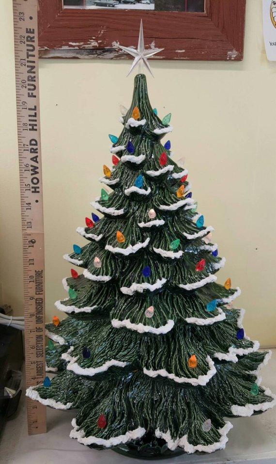 Ceramic Christmas Tree Extra Large Nowell Rough Branch Etsy Ceramic Christmas Trees Christmas Tree Painting Christmas Tree