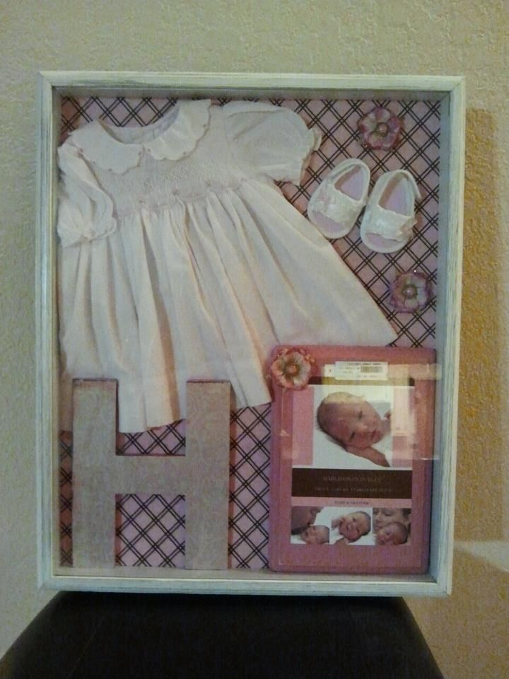 Baby Girl Shadow Box | Projects to Try | Pinterest | Álbumes de ...