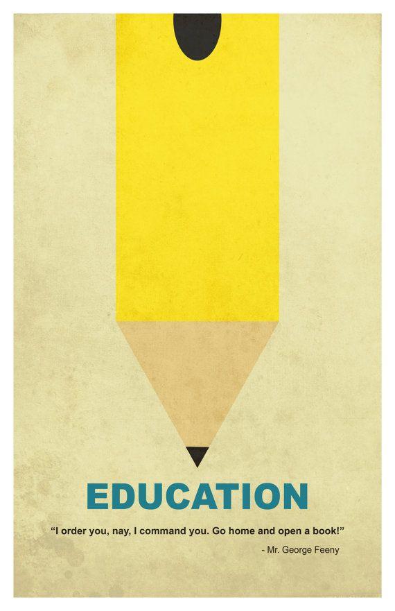 Education 11x17 minimalism poster print - Graduation ...