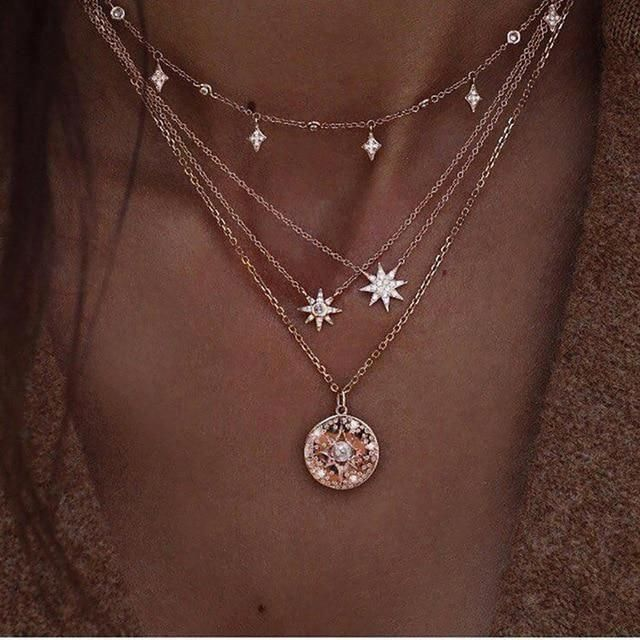 Photo of Diamant-Halskette / Star Charm Halskette / Tiny Star Diamond Choker / 14 Karat Gold Halskette / Diamond Choker Halskette / echte Diamant-Anhänger – Fine Jewelry Ideas