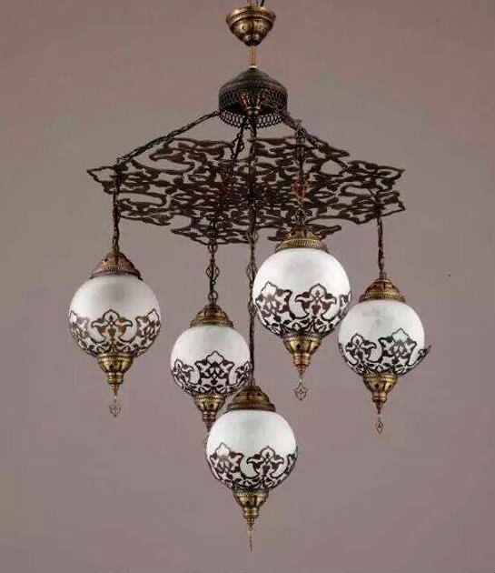 5 ball ottoman turkish lamps chandelier hanging lamphanging light 5 ball ottoman turkish lamps chandelier hanging by beautyofturkey aloadofball Choice Image