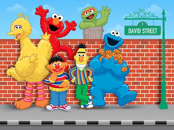 Colorful Sesame Street Birthday Backdrop Personalized Cookie Monst Sesame Street Birthday Sesame Street Birthday Party Sesame Street Birthday Party Ideas Boy