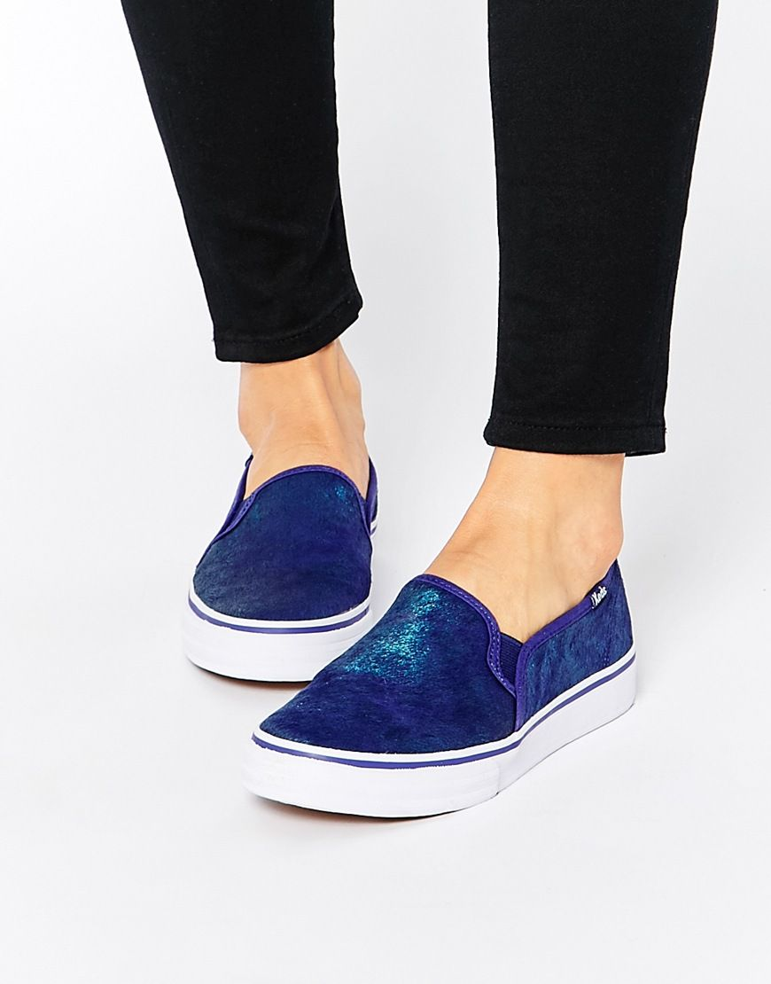 leather keds slip on shoes