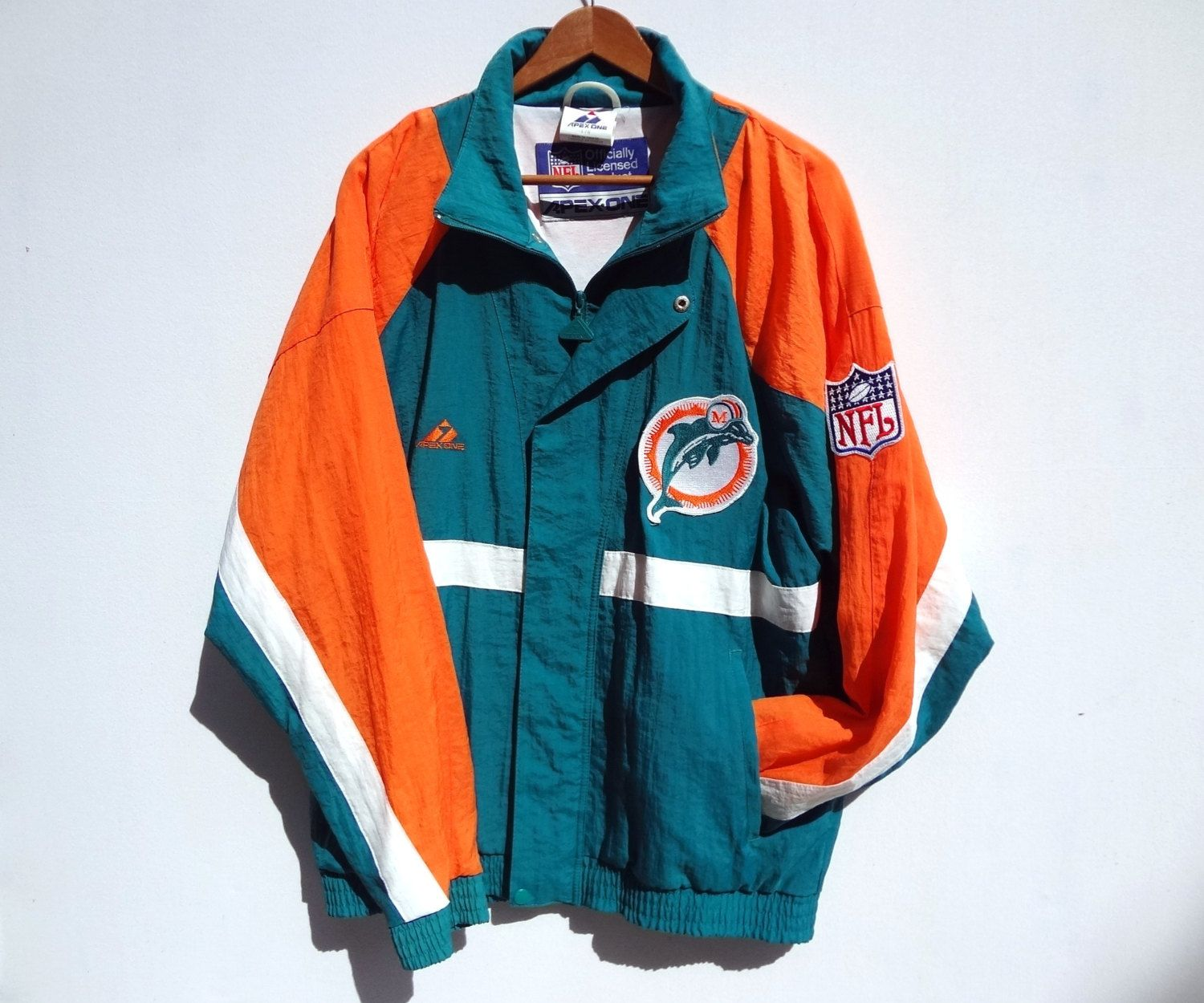 low priced 06abd 868fd Vintage 90s Miami Dolphins Jacket - Large - NFL - Apex One ...