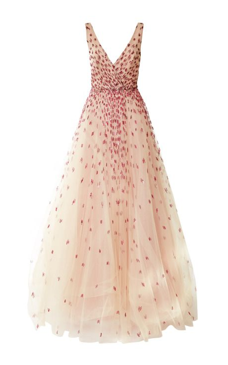 Embroidered Degrade Ball Gown by Monique Lhuillier Pre-Fall 2015 for Preorder on Moda Operandi