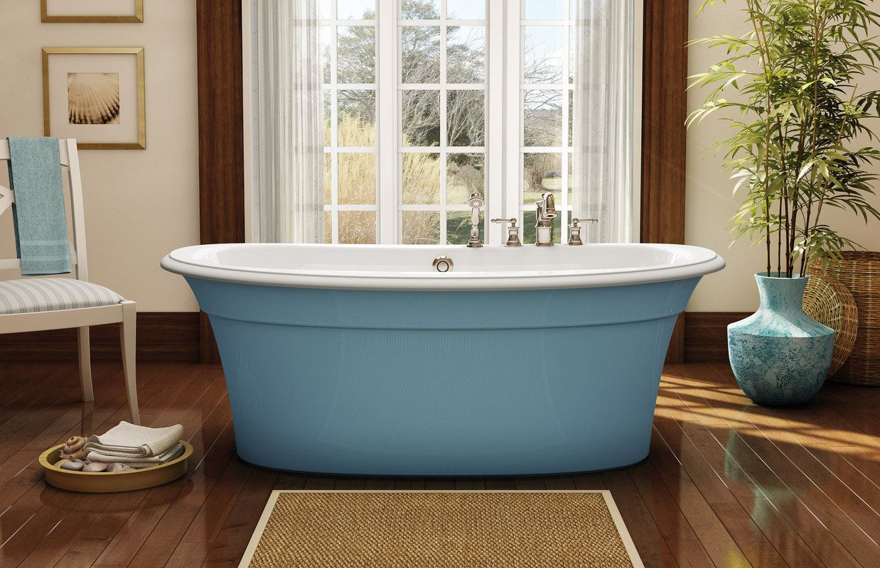 Maax 105744 Ella Sleek Freestanding Bathtub | HD Chairs & Chest ...