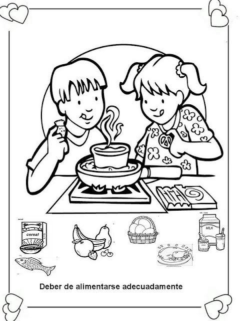 Láminas Para Colorear Coloring Pages Deberes Y Derechos Del