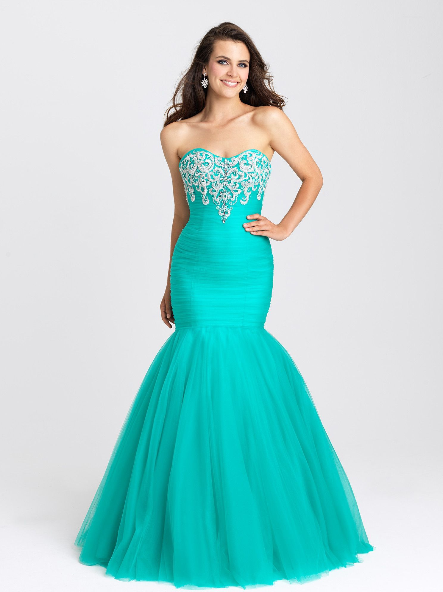 Madison James 16-386 In Stock Purple Size 14 Tulle Mermaid Prom ...
