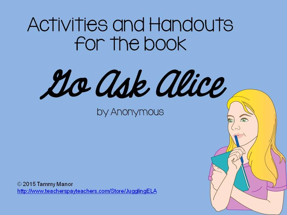 activities and handouts for the book go ask alice reluctant activities and handouts for the book go ask alice