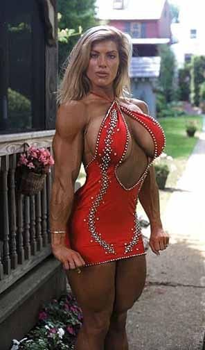 Big blonde body boob builder