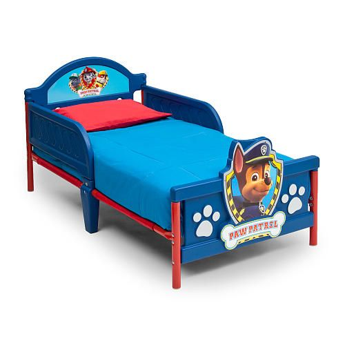 Fight Bedtime Blues With The Nickelodeon Paw Patrol Plastic Toddler Bed From Delta Children