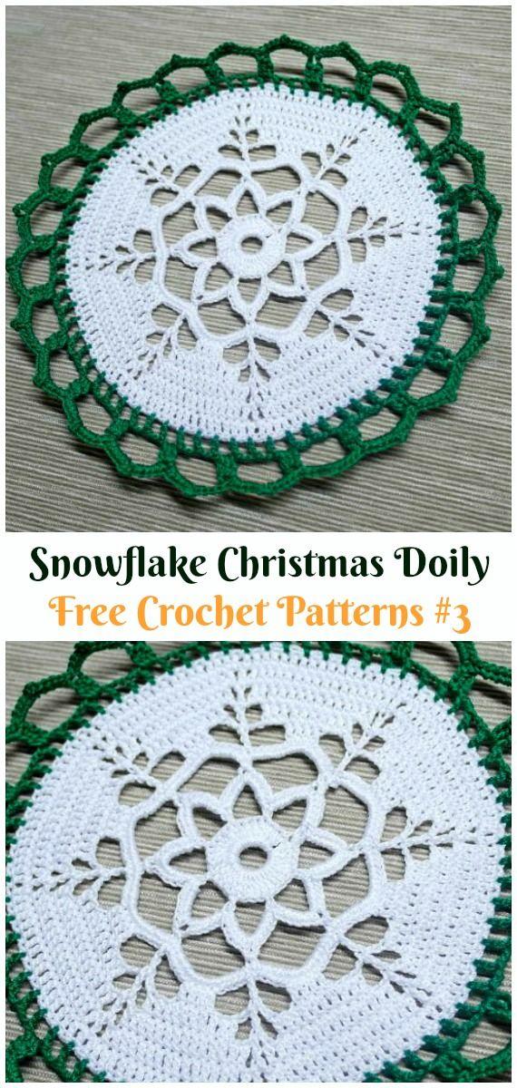 Snowflake Christmas Doily Free Crochet Pattern Christmas Doily