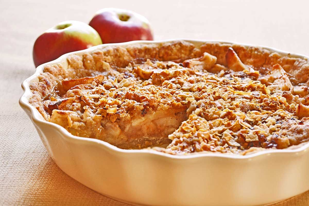 Sour Cream Apple Pie With Norwegian Gjetost Sour Cream Apple Pie Apple Pie Cooking Recipes