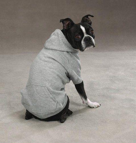 Zack Zoey Polyester Cotton Basic Dog Hoodie X Large 24 Inch Heather Gray Zack Zoey Dog Hoodie Dog Sweatshirt Grey Dog