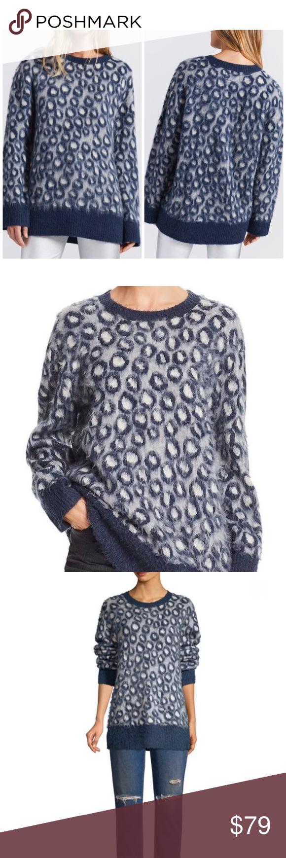 Current/Elliot Cali Leopard Print sweater 2/M NWT