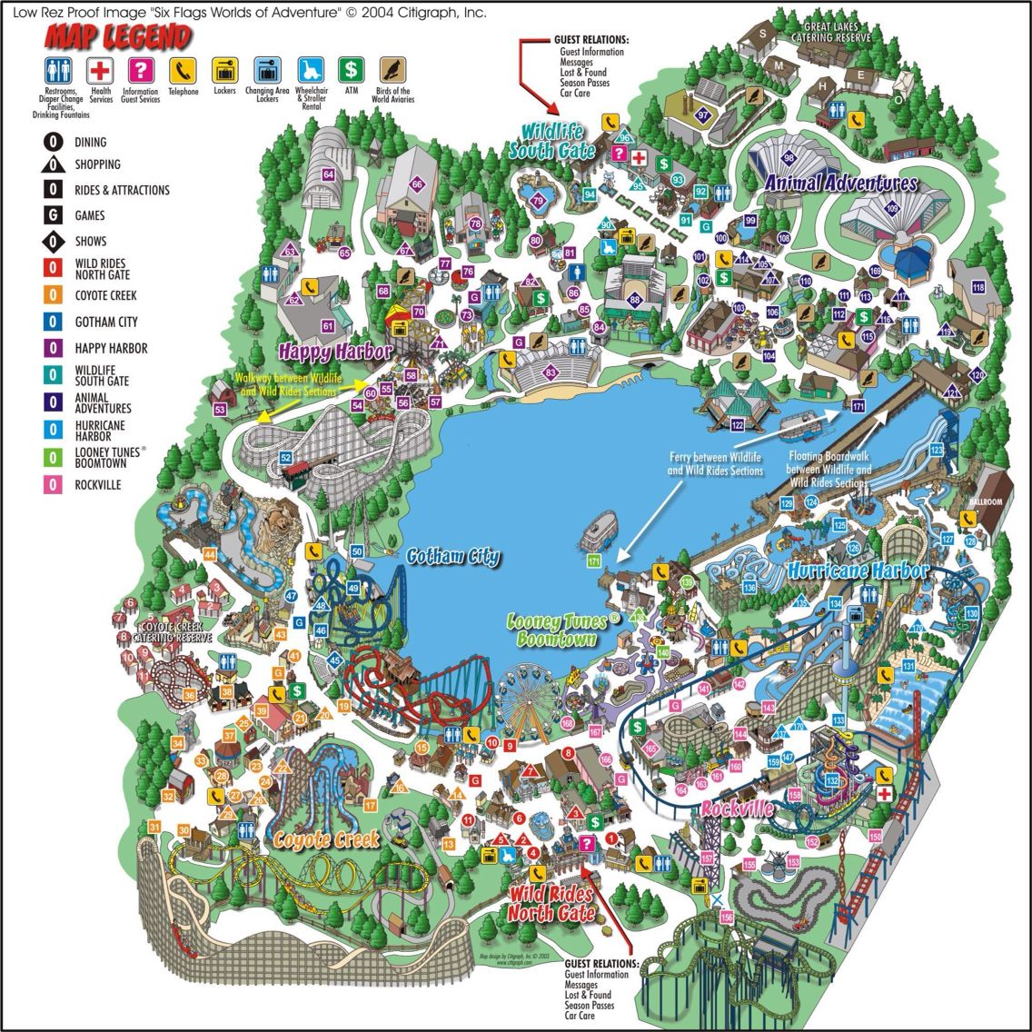 six flags new orleans map Map Of The Old Geauga Lake Geauga Lake Amusement Park Theme six flags new orleans map