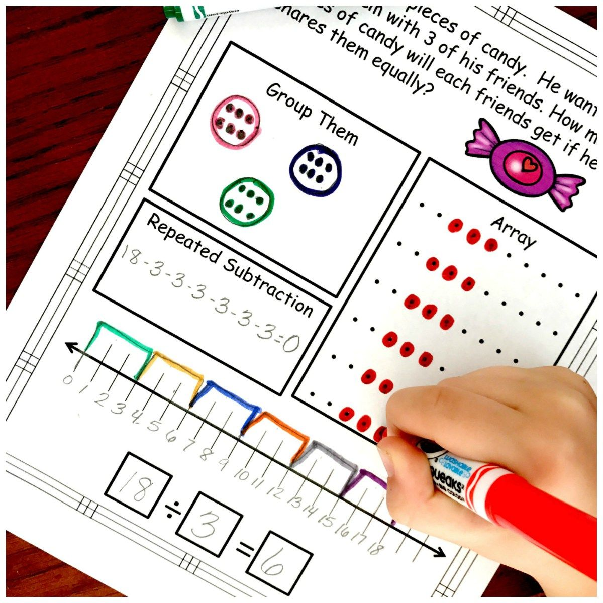 Division Problem Solving with Five Ways to Solve...FREE