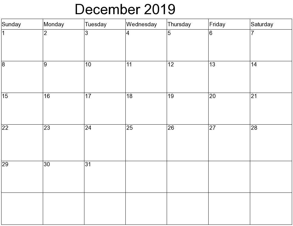 December 2019 Calendar Kalendar Na Avgust Shablony Kalendarej