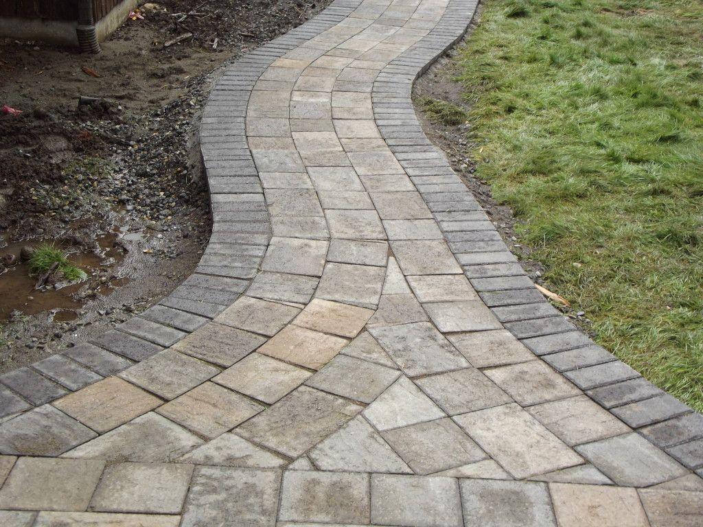 Curved Walkway Curved Paver Stone Walkway Video Garden Stone Walkway Budget Backyard