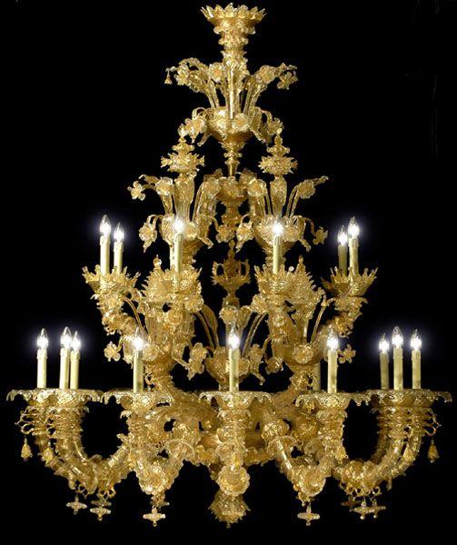 Gianni Seguso Murano glass chandelier, Rezzonico. The finest light fitting  in the World?