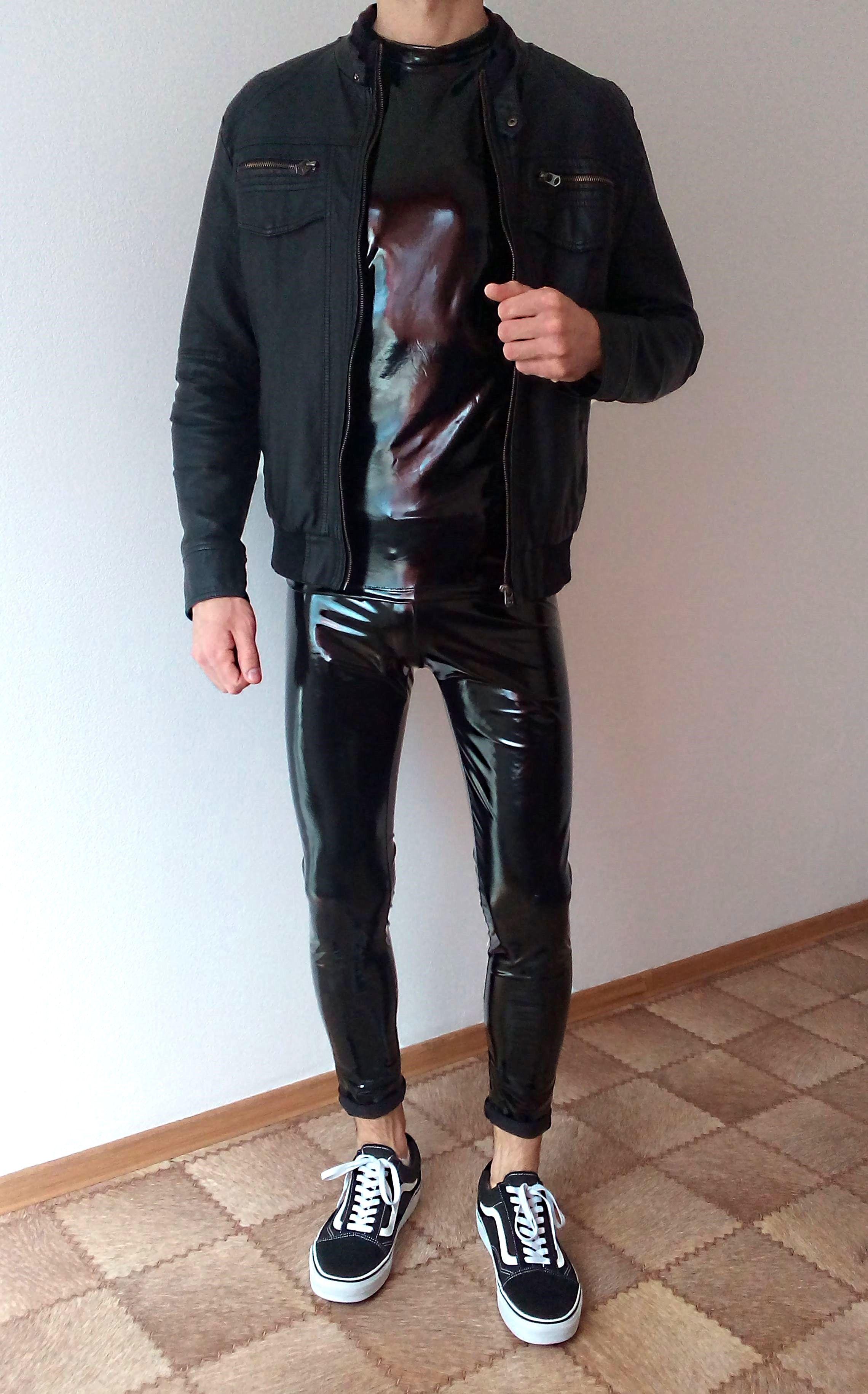 744f94106445 vans old skool black rock outfit | boys guys in leather pants tights ...