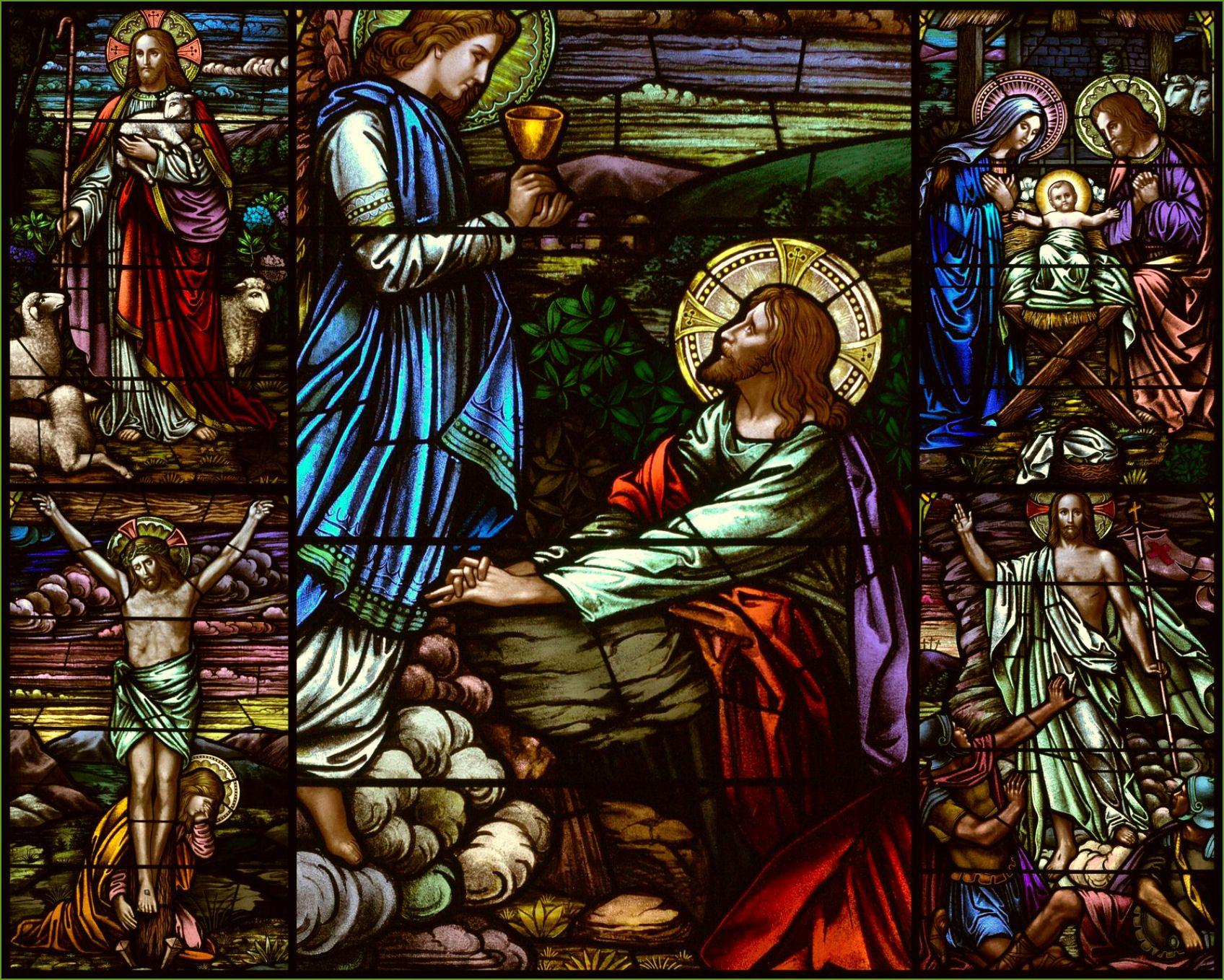 Religion Stained Glass Jesus Catholic Christian Art ...