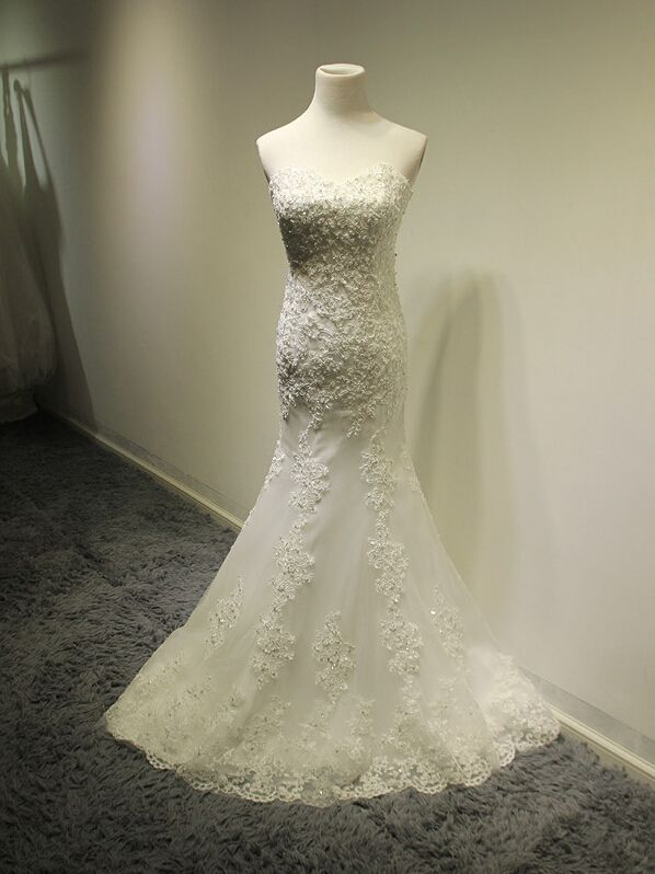 New Arrival Wedding Dress,White Long Mermaid Wedding Gown