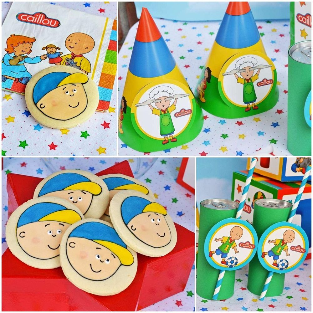 Caillou Themed Birthday Party Ideas Caillou Party Pinterest ...