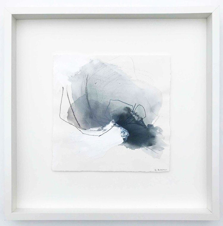 Abstract Painting On Watercolor Paper Beautifully Floating In A