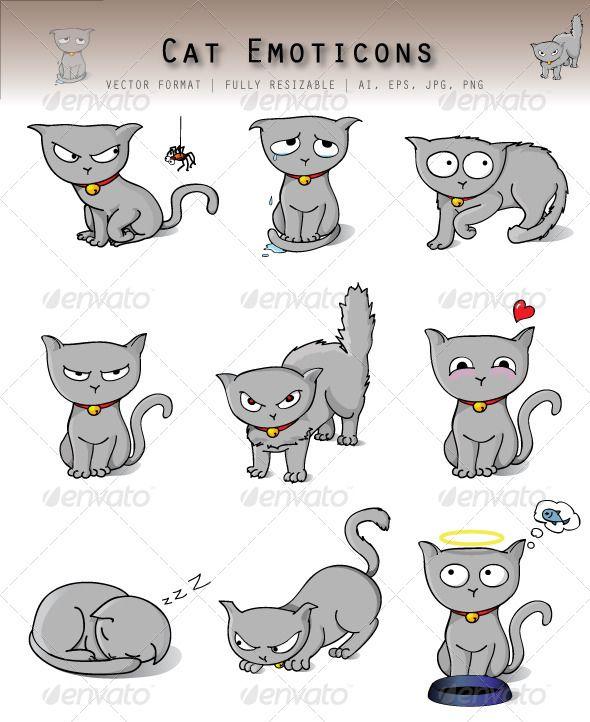cat emoticons