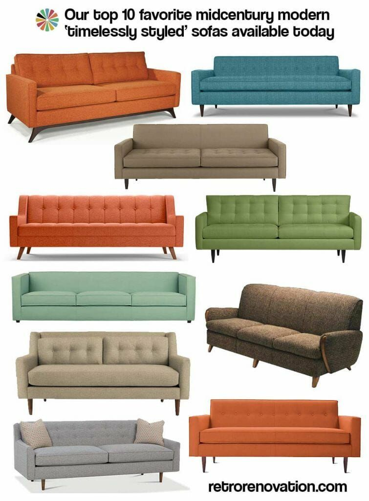 Mid Century Modern Sofa Kate S Top10 Midcentury Modern Sofas Available Today Mid Century Modern Sofa In 2020 Sofa Design Sofa Couch Design Mid Century Modern Furniture