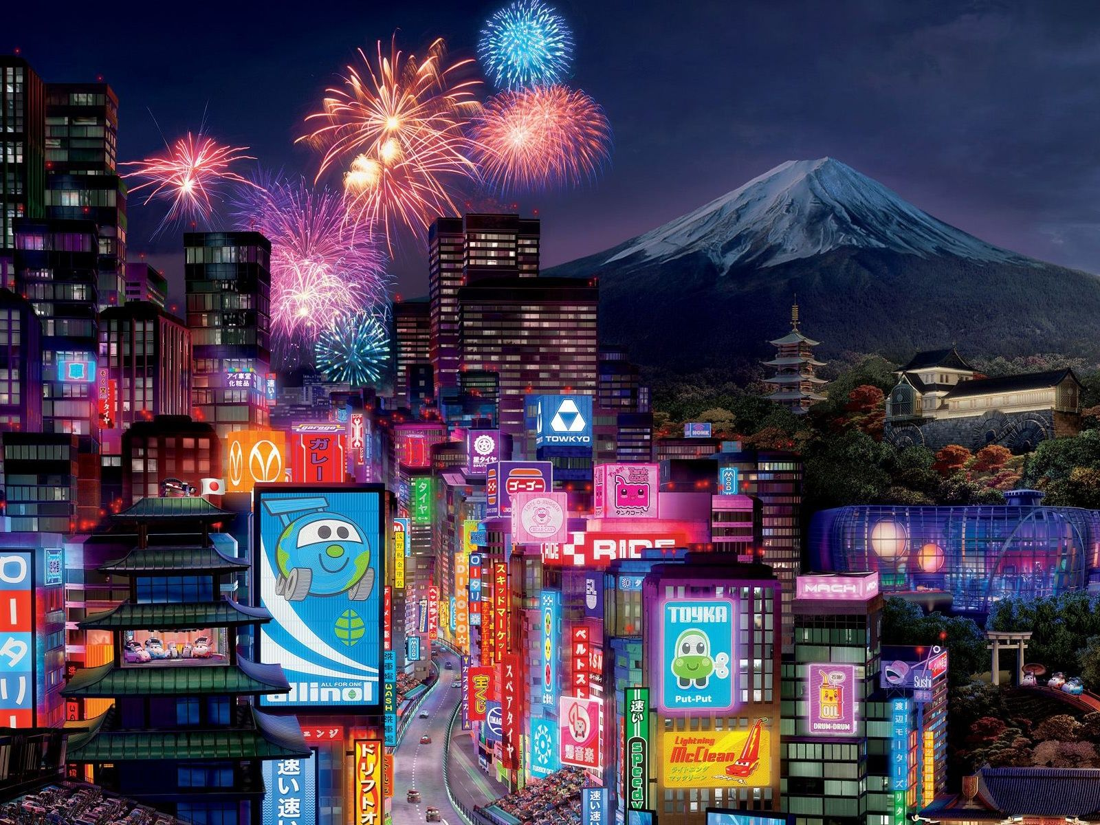 japan anime city Cars 2 Cute Tokyo city Kawaii