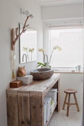 Plan vasque à faire soi-même en béton, bois, carrelage Bathrooms