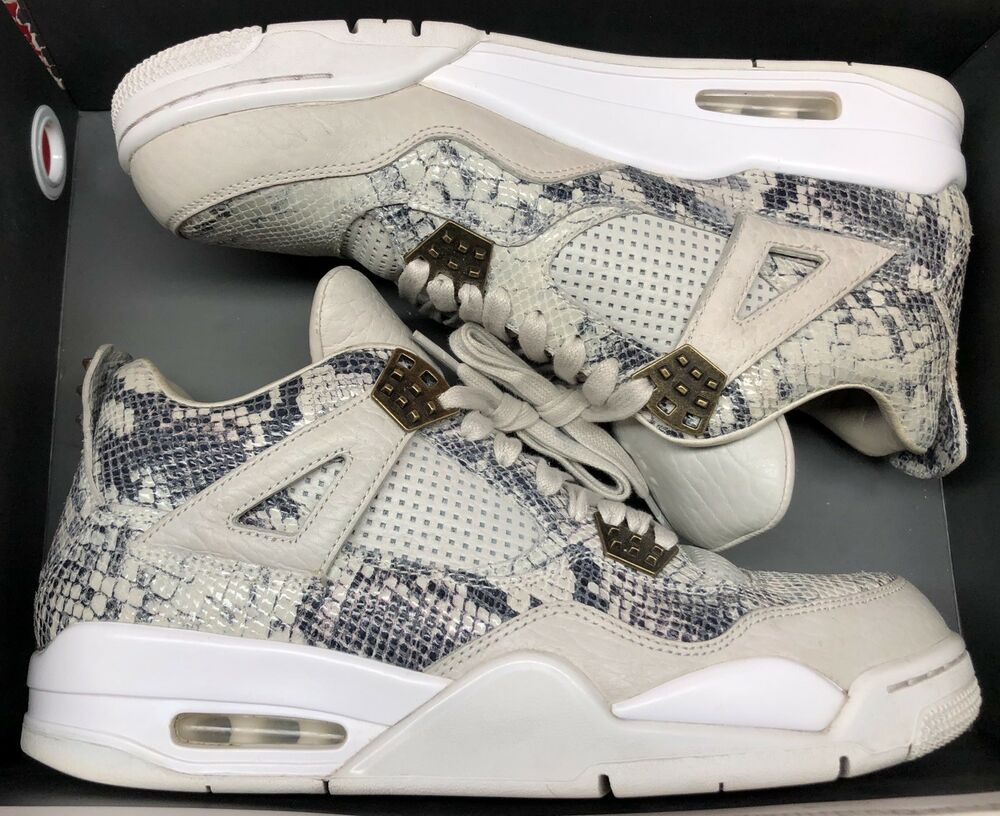 reputable site 8aaf0 e3724 eBay #Sponsored Jordan Retro IV 4 Premium Snakeskin Bone ...