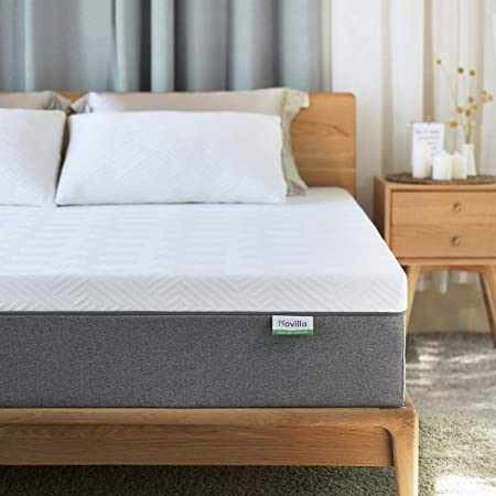 Amazon Com King Mattress Novilla 10 Inch Gel Memory Foam King Size Mattress For Cool Sleep Pressure Relief In 2020 Twin Mattress Size Mattress Queen Mattress Size