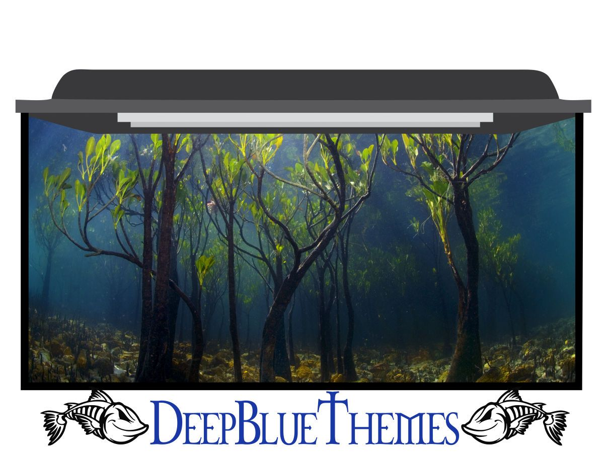 Aquarium Background Underwater Trees Deepbluethemes Com Aquarium Backgrounds Aquarium Background