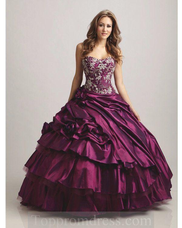 dark purple wedding dress | Halloween/Gothic Wedding attire ...
