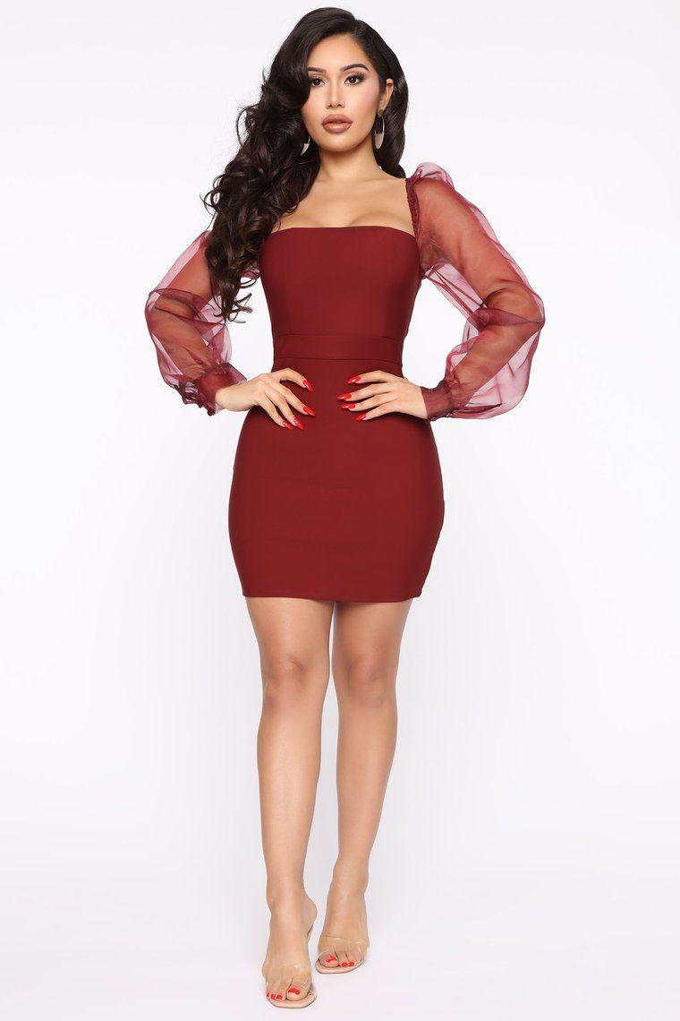 Top Candidate Mini Dress Wine Mini Dress Fashion Nova Dress Fashion Nova Outfits