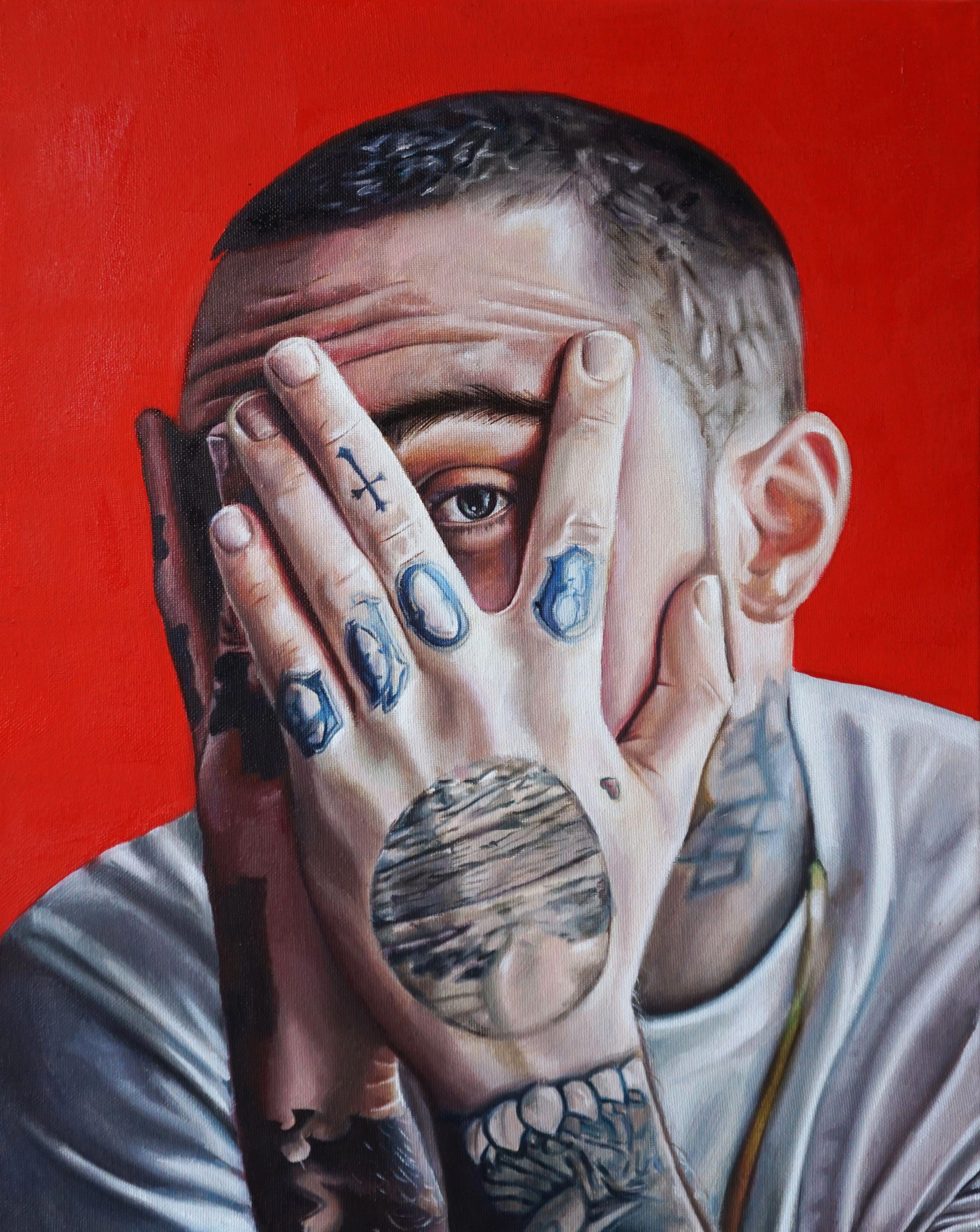 Mac Miller Tribute Tattoo: Mac Miller Oil Painting On Canvas IG @zainaxm